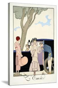 Envy, from 'Falbalas and Fanfreluches, Almanach des Modes Présentes, Passées et Futures', 1925 by Georges Barbier