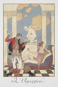 Falbalas Et Fanfreluches, Almanac for 1922, L'Aggression by Georges Barbier