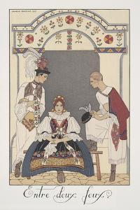 Falbalas Et Fanfreluches, Almanac for 1923, Entre Deux Feux by Georges Barbier