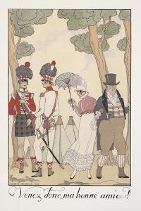Falbalas Et Fanfreluches, Almanac for 1923, Venez Donc, Ma Bonne Amie by Georges Barbier