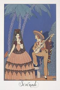 Falbalas Et Fanfreluches, Almanac for 1924, Serenade by Georges Barbier