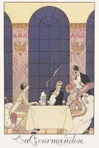 Falbalas Et Fanfreluches, Almanac for 1925: La Gourmandise by Georges Barbier