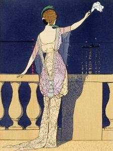 'Farewell at Night', c1910s by Georges Barbier