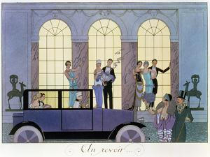 Farewell, Engraved by Henri Reidel, 1920 (Litho) by Georges Barbier