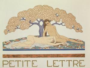 Female Nudes, Illustration from 'Les Mythes' by Paul Valery (1871-1945) Published 1923 by Georges Barbier