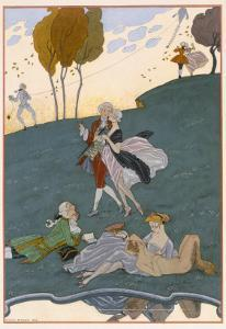 Fetes Galantes, Illustration for 'Fetes Galantes' by Paul Verlaine by Georges Barbier