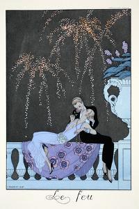 Fire, from 'Falbalas and Fanfreluches, Almanach des Modes Présentes, Passées et Futures', 1926 by Georges Barbier