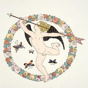 Frontispeice in 'Falbalas and Fanfreluches, Almanach des Modes Présentes, P by Georges Barbier
