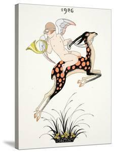 Frontispiece of 'Falbalas and Fanfreluches, Almanach des Modes Présentes, P by Georges Barbier