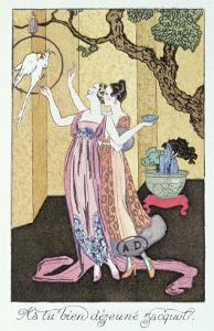 Have You Had a Good Dinner, Jacquot?', 1919 by Georges Barbier