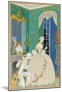 Illustration for 'Fetes Galantes' by Paul Verlaine (1844-96) 1923 (Pochoir Print) by Georges Barbier