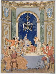 Illustration from 'Les Liaisons Dangereuses' by Pierre Choderlos De Laclos (1741-1803) by Georges Barbier