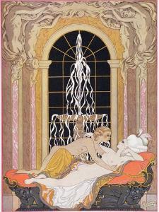 Illustration from Les Liaisons Dangereuses by Pierre Choderlos de Laclos by Georges Barbier