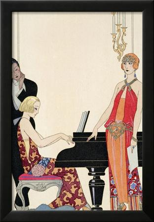 Incantation, Illustration for 'Gazette Du Bon Ton', 1922 (Pochoir Print)