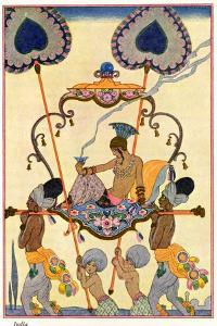 "India, from ""The Art of Perfume,"" Published 1912 by Georges Barbier"