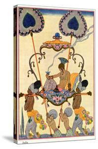 """India, from """"The Art of Perfume,"""" Published 1912 by Georges Barbier"""