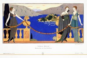 'Isola Bella', evening dresses designed by Redfern, 1914 by Georges Barbier