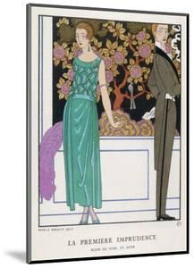 Jade Green Dress by Beer by Georges Barbier