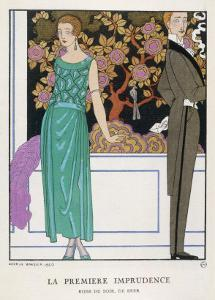 Jade Green Dress by Beer by Georges Barbier