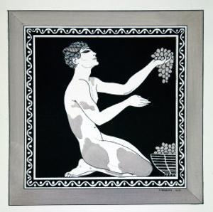 L'Apres-Midi D'Un Faune from the Series Designs on the Dances of Vaslav Nijinsky by Georges Barbier