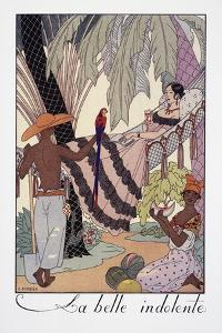 La Belle Indolente by Georges Barbier