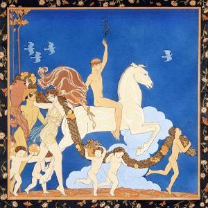 La Cheval Blanc, C.1917-1920 by Georges Barbier