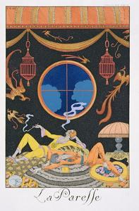 La Paresse, 1924 by Georges Barbier