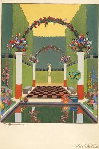 La Salle Verte, Pub. Paris 1919 by Georges Barbier