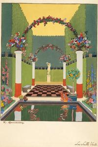 La Salle Verte, Pub. Paris 1919 by Georges Barbier