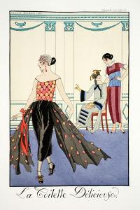 La Toilette Delicieuses, from 'Falbalas and Fanfreluches, Almanach des Mode by Georges Barbier