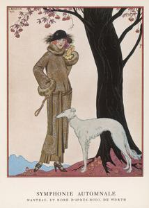 Lady and Saluki 1922 by Georges Barbier