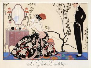 Le Grand Décolletage, 1921 by Georges Barbier