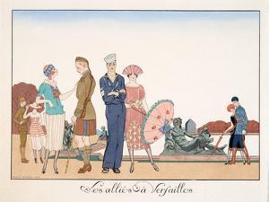 Les Alliés À Versailles, by H. Reidel, 1920 by Georges Barbier