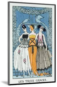 Les Trois Graces, 1918 (Colour Litho) by Georges Barbier