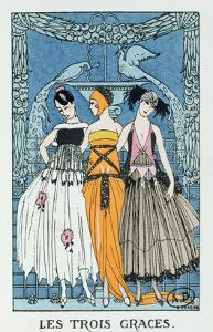 Les Trois Graces, 1918 (Colour Litho) by Georges Barbier