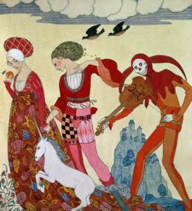 Love, Desire and Death by Georges Barbier