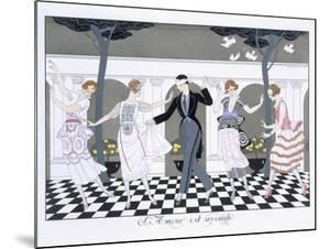 Love is Blind, Engraved by Henri Reidel, 1920 by Georges Barbier