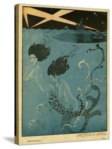 Mermaids and U-Boats by Georges Barbier