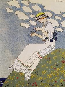 N'en Dites Rien, from the Gazette du Bon Ton No. 10, 1913 by Georges Barbier