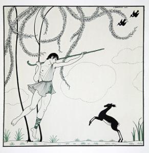 Narcisse, from the Series Designs on the Dances of Vaslav Nijinsky by Georges Barbier