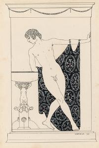 Nijinsky in 'Narcisse', 1911 by Georges Barbier