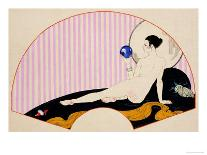 Odalisque with a Crystal Ball, Dated 1920-Georges Barbier-Mounted Premium Giclee Print