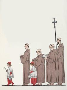 On the Way to Mass by Georges Barbier