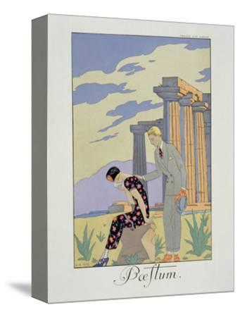 Paestum, 1924 (Pochoir Print)