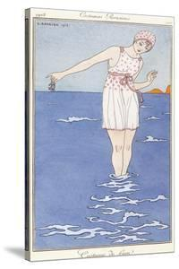 Parisian Clothing: Bathing Costume, 1913 by Georges Barbier