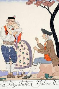 Paternal Blessing by Georges Barbier
