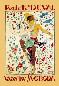 Paulette Duval and Vaceslv Svoboda Dance by Georges Barbier