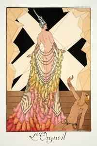Pride, from 'Falbalas and Fanfreluches, Almanach des Modes Présentes, Passées et Futures', 1925 by Georges Barbier