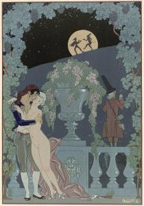 Puppets, Illustration For Fetes Galantes by Paul Verlaine by Georges Barbier