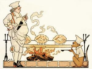 Roasting on a Spit by Georges Barbier